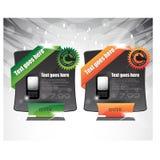 Bannières de vente ou de remise de Web Photos libres de droits