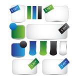 Bannières de vente ou de remise de Web Images stock