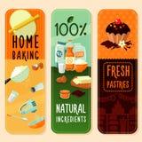 Bannières de verticale d'ingrédients de cuisson Photographie stock libre de droits