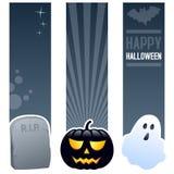Bannières de verticale de Halloween Photo libre de droits