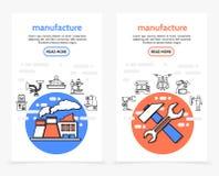 Bannières de verticale de production illustration libre de droits