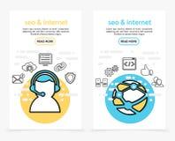 Bannières de verticale de technologie d'Internet Image stock