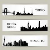 Bannières de ville Photographie stock