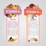 Bannières de vitamine réglées illustration de vecteur