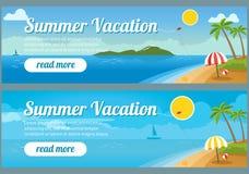 Bannières de voyage d'été illustration libre de droits