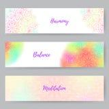 Bannières de Web avec Mandala1 Images stock