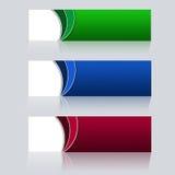 Bannières de web design sur le fond gris Image stock