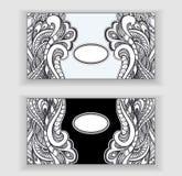 bannières de Zen-griffonnage ou de Zen-embrouillement ou label ou cadres illustration libre de droits