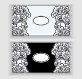 bannières de Zen-griffonnage ou de Zen-embrouillement ou label ou cadres illustration stock