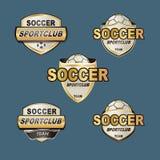 Bannières du football d'insigne de vecteur Photos libres de droits