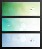 Bannières en cristal abstraites Photographie stock