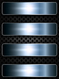 Bannières en métal au-dessus du filet Photographie stock libre de droits