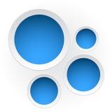 Bannières en plastique rondes Image stock