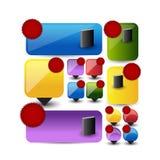 Bannières et indicateurs de Web Photos libres de droits