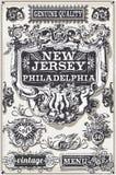 Bannières et labels tirés par la main de page de vintage Image libre de droits