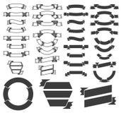 Bannières et rubans héraldiques Image stock