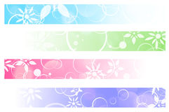 Bannières florales Images stock