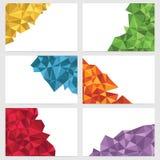 Bannières géométriques Photo stock