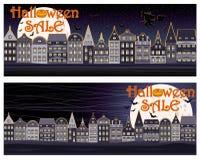 Bannières heureuses d'achats de vente de Halloween Image libre de droits