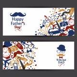 Bannières heureuses de jour de pères réglées illustration libre de droits