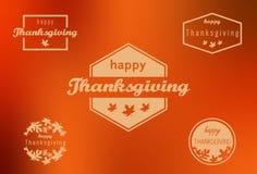 Bannières heureuses de thanksgiving Image stock