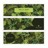 Bannières horizontales à feuilles persistantes d'arbre de Noël de vecteur Photographie stock libre de droits