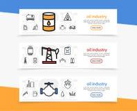 Bannières horizontales d'industrie pétrolière  Photos libres de droits