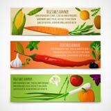 Bannières horizontales de légumes Photographie stock libre de droits
