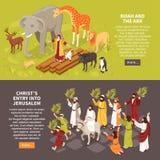 Bannières horizontales de récits de bible illustration libre de droits