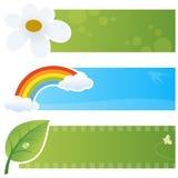 Bannières horizontales de ressort Photographie stock libre de droits