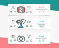Bannières horizontales de vacances d'été Photos libres de droits