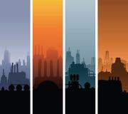 Bannières industrielles de paysage illustration stock