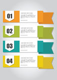 bannières infographic Photographie stock libre de droits