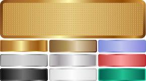 Bannières métalliques Photo stock