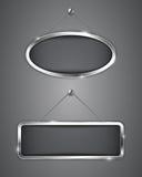 Bannières métalliques Image libre de droits
