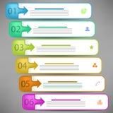 Bannières modernes d'Infographics Image libre de droits