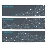 Bannières modernes de la science Structure de molécule de l'ADN et des neurones Photo stock