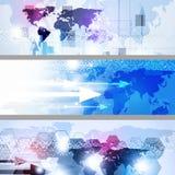 Bannières multicolores géométriques abstraites d'affaires Images stock