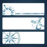 Bannières nautiques illustration de vecteur
