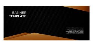 Bannières noires et gradient d'or pour l'en-tête website_01 illustration stock