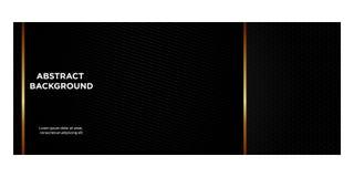 Bannières noires et gradient d'or pour l'en-tête website_08 illustration de vecteur