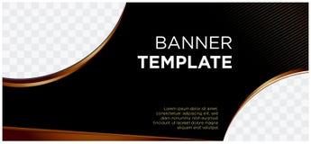 Bannières noires et société landscape-01 commercial de site Web d'en-tête d'or illustration libre de droits