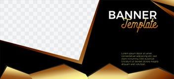 Bannières noires et société landscape-04 commercial de site Web d'en-tête d'or illustration stock