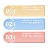 bannières numérotées Calibres de conception Photographie stock