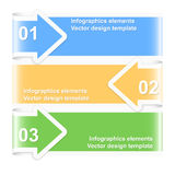 Bannières numérotées de flèche Descripteur de conception Photos stock