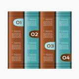 Bannières numérotées par papier. Calibre de conception de vecteur. Images stock