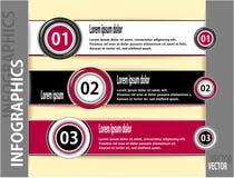 Bannières ou calibre modernes réglées d'infographics illustration libre de droits