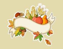 Bannières plates de thanksgiving de récolte Photos libres de droits