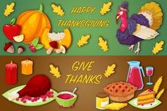 Bannières pour le jour de thanksgiving Image libre de droits