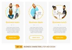 Bannières pour votre web design dans le style d'affaires Photos libres de droits